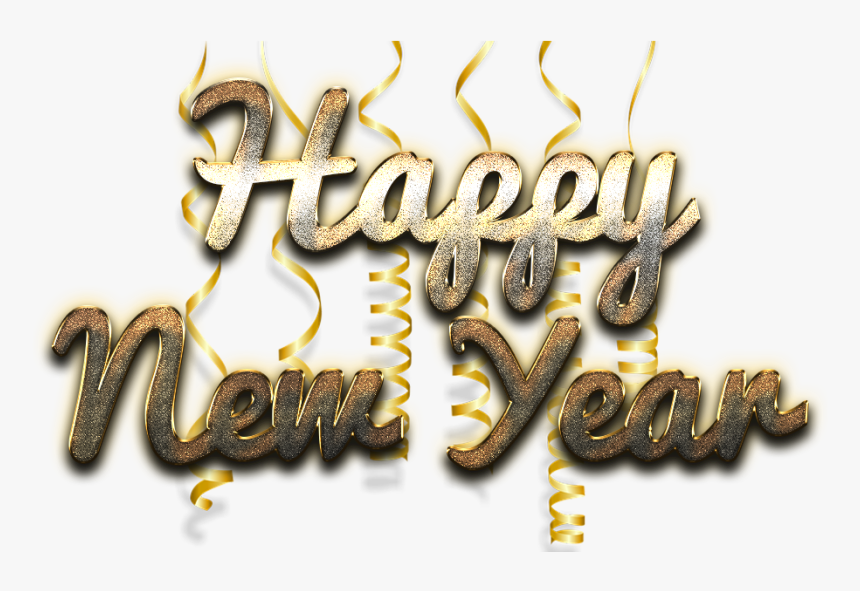 Happy New Year Word Art Free Png Image - Happy New Year Png, Transparent Png, Free Download