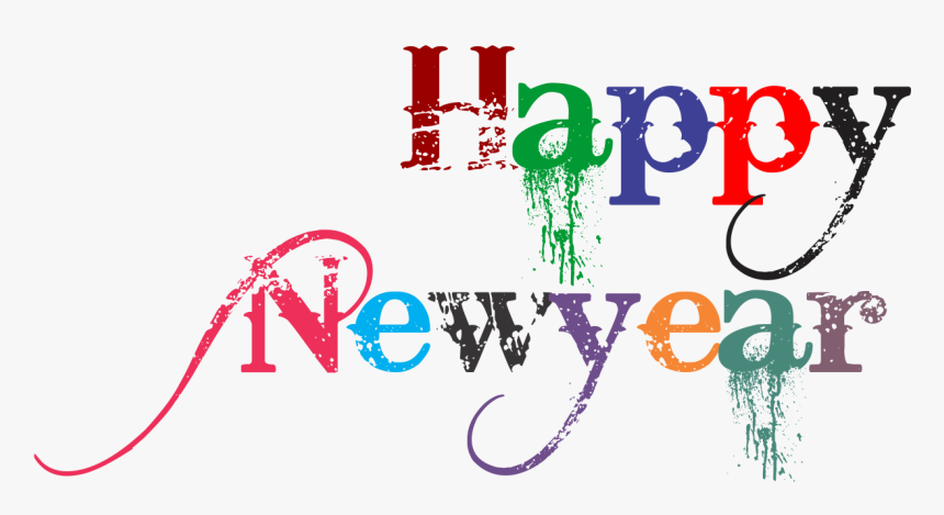 Happy New Year 2018 Clip Art New Year Png Text