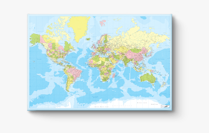 Canvasprint World Map - Large Transparent World Map, HD Png Download, Free Download