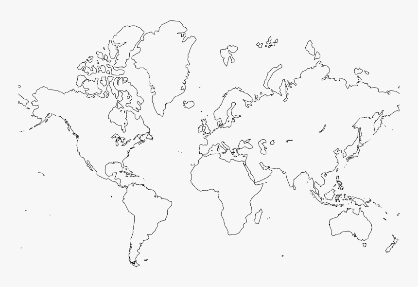 World Map - World Map Outline Large, HD Png Download, Free Download