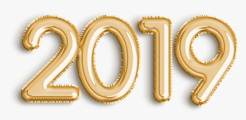Happy New Year Gold Png - Gold Transparent Happy New Year 2019 Png, Png Download, Free Download