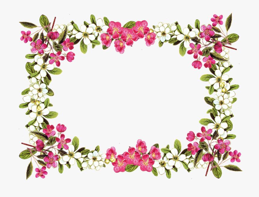 Floral Border Png Flower Frame Transparent Background Png