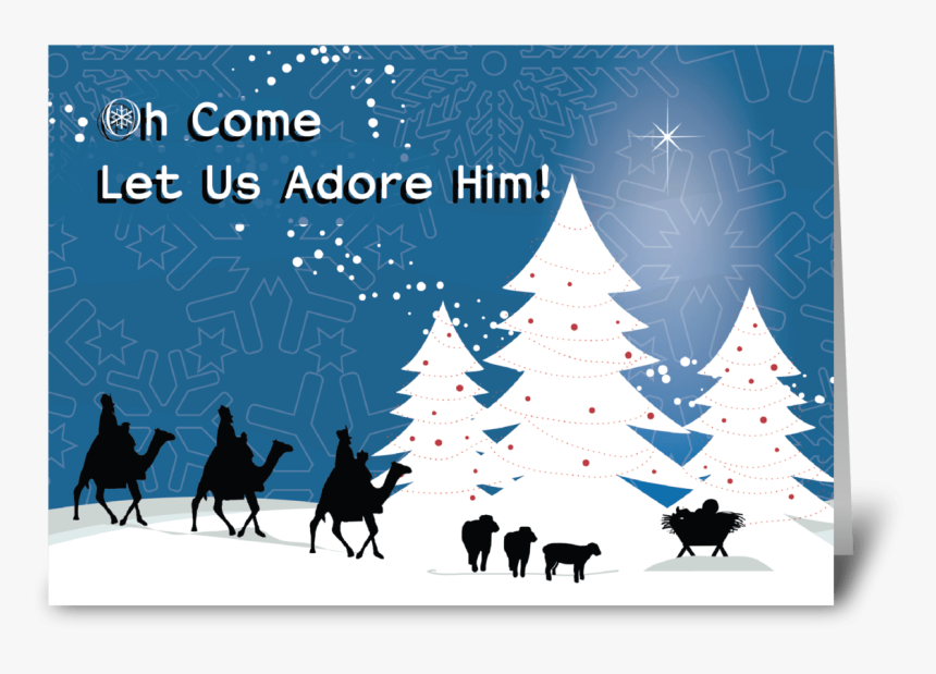 Christmas Manger Scene, Wise Men Star Greeting Card - Merry Christmas Organ Donation, HD Png Download, Free Download