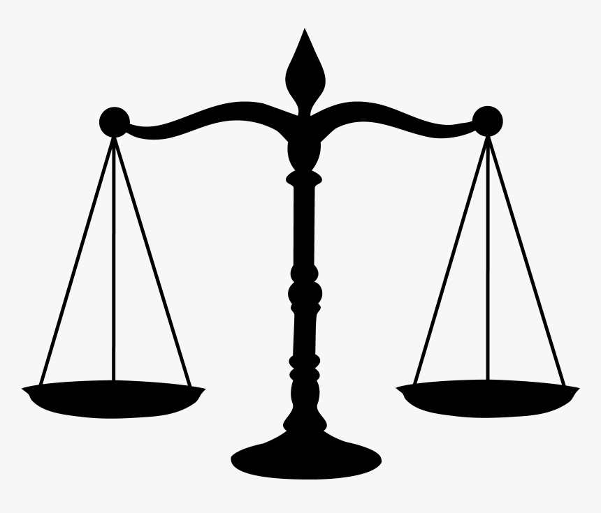 Legal Scales Black Silhouette - Mock Trial, HD Png Download, Free Download