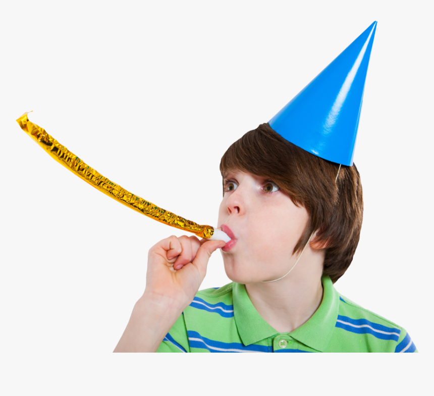 Birthday Boy In Hat - Kid With Party Hat, HD Png Download, Free Download