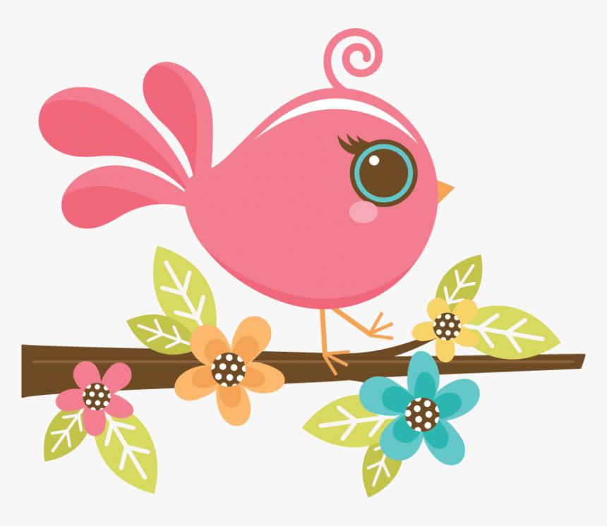 Love Birds Clipart Pretty Bird - Pink Bird Clipart Png, Transparent Png, Free Download