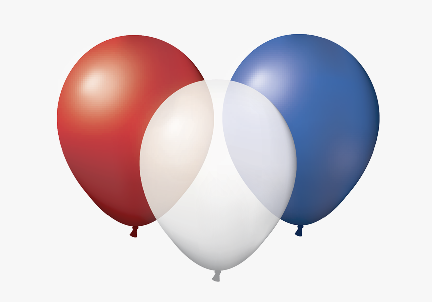 Blue And White Balloons Png Clip Art Black And White - Red White And Blue Balloons Png, Transparent Png, Free Download