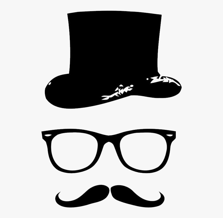 Wall Wallpaper Polyvinyl Decal Mustach Chloride Beard - Beard Gentleman, HD Png Download, Free Download