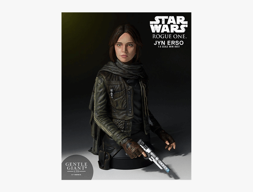 Gentle Giant Jyn Erso Mini Bust, HD Png Download, Free Download