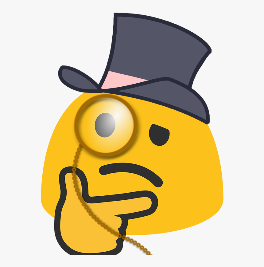 Top Hat Thinking Emoji, HD Png Download, Free Download