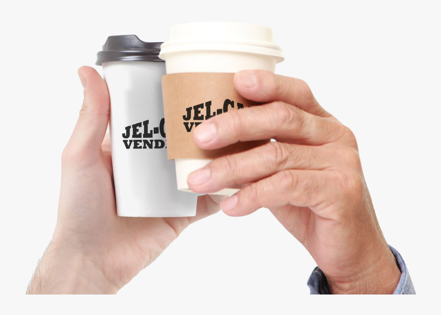 Two Generations Holding Paper Coffee Cups - Bottle, HD Png Download, Free Download