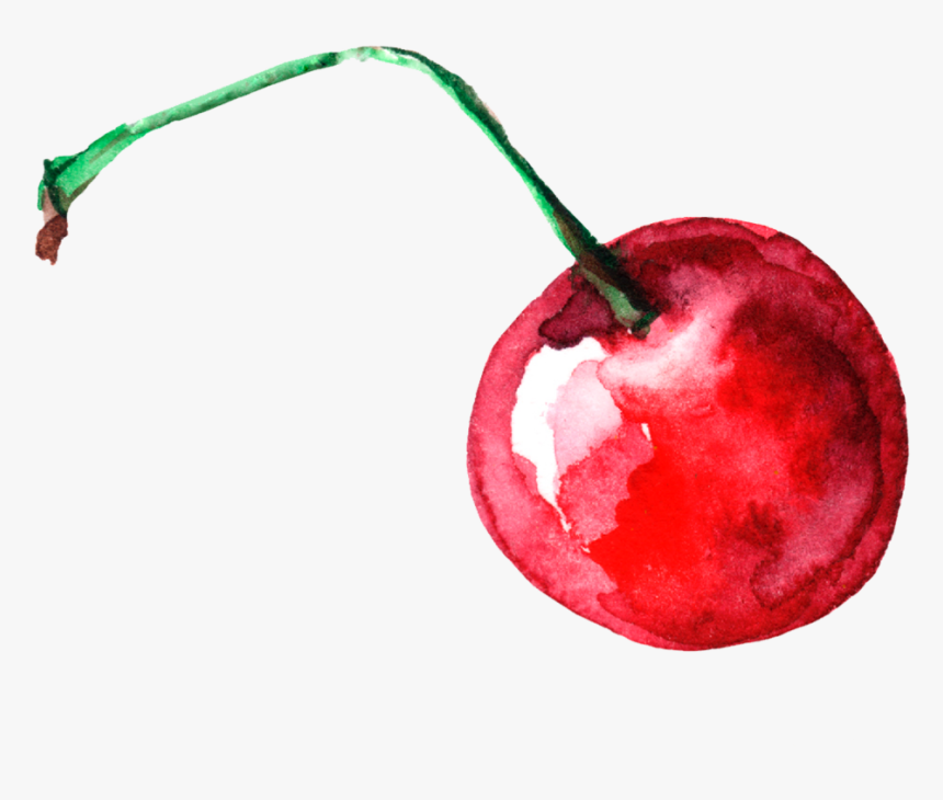#food #berry #cherry #red #sweet #berries #watercolors - Watercolor Cherry Png, Transparent Png, Free Download