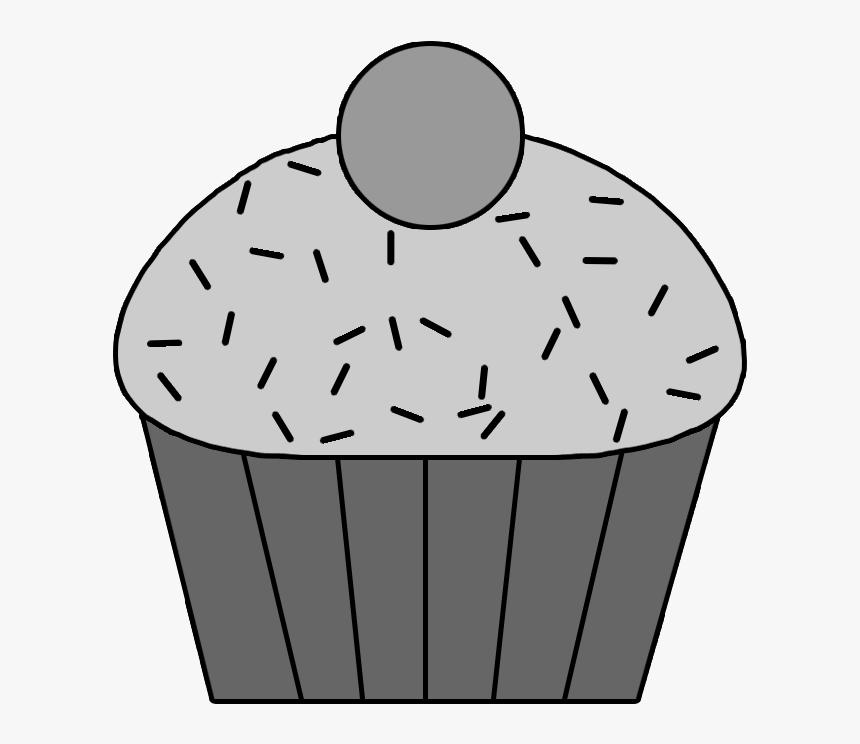 Clip Art Or Cupcake Pixels Templates - Cupcake Template, HD Png Download, Free Download