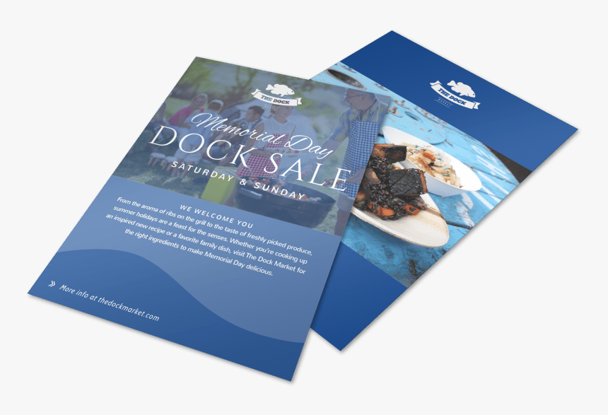 Memorial Day Dock Flyer Template Preview - Flyer, HD Png Download, Free Download