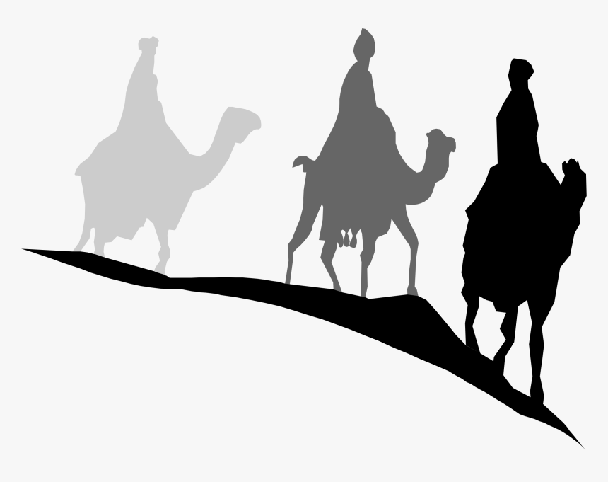 Wise Men Still Seek Him Silhouette - Wise Men Silhouette Png, Transparent Png, Free Download