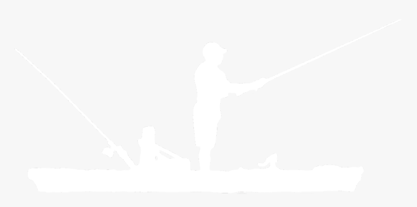 Fisherman Silhouette Png - Kayak Fishing Black And White, Transparent Png, Free Download