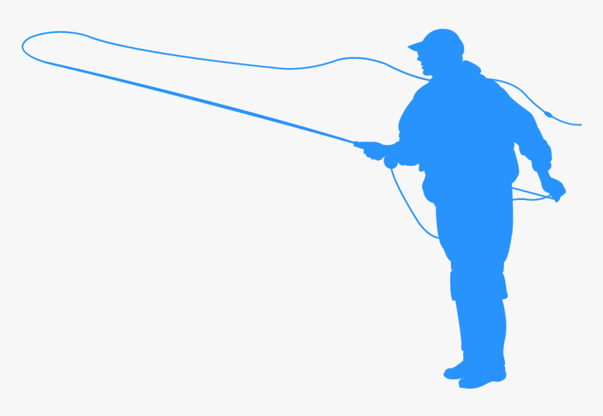 Fly Fisherman Silhouette Transparent, HD Png Download, Free Download