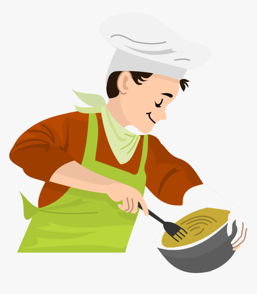 Food Clipart Cooking Fries - Chef Making Food Clipart, HD Png ...
