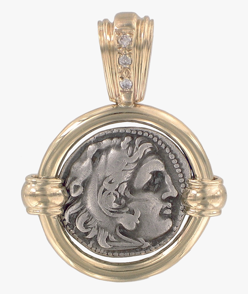 Alexander The Great Coin Pendant - Locket, HD Png Download, Free Download