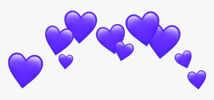 #heart #cute #effect #purple #hearts #pinkheart #purplehearts - Transparent Heart Crown Png, Png Download, Free Download