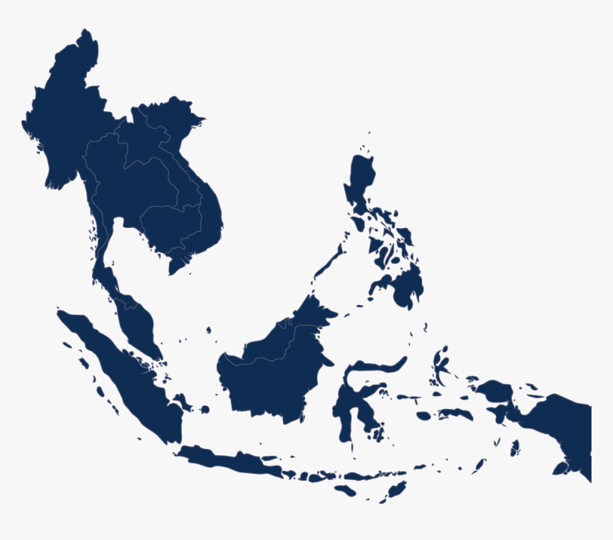 Map Of Indo-pacific - South East Asia Map .png, Transparent Png, Free Download