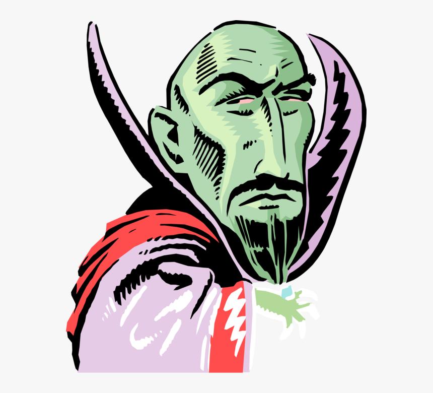 Vector Illustration Of Green Count Dracula Monster - Illustration, HD Png Download, Free Download