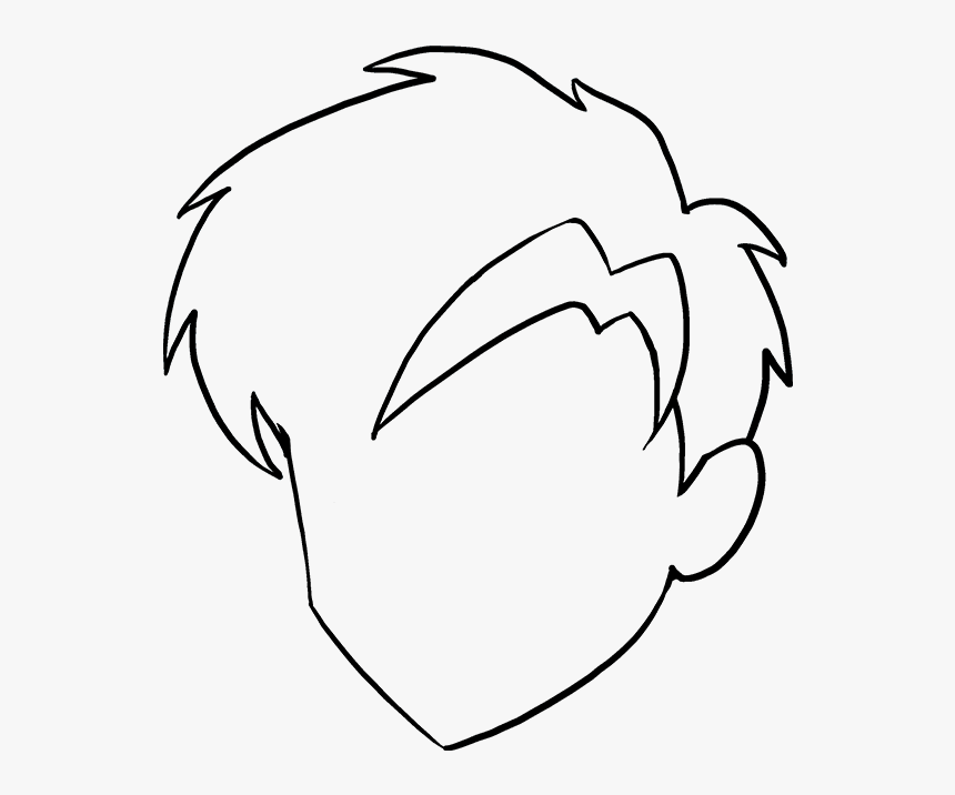 How To Draw Manga Hair Really Easy Drawing Tutorial Drawing Hd Png Download Kindpng