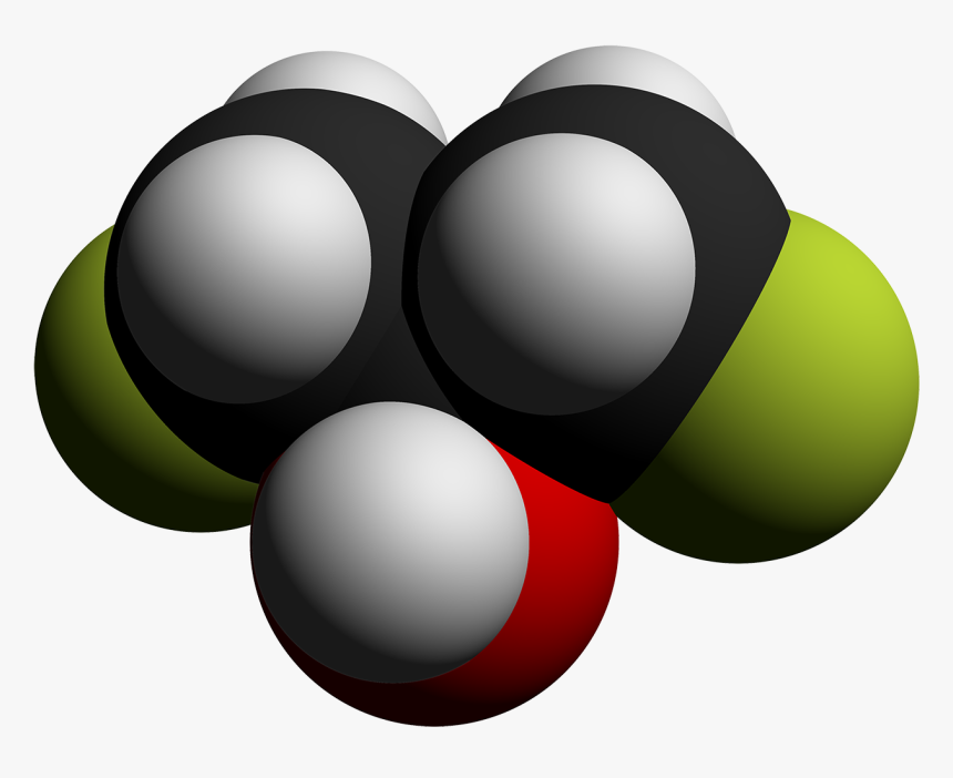 1,3 Difluoro 2 Propanol 3d Vdw By Ahrls 2012 - Circle, HD Png Download, Free Download
