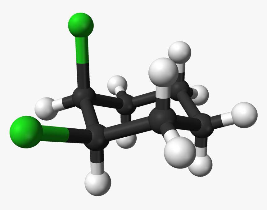 Cis 1,2 Dichlorocyclohexane 3d Balls - Trans 1 2 Dichlorocyclohexane, HD Png Download, Free Download