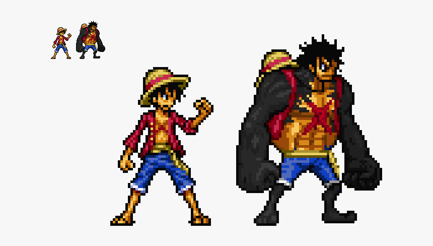 Pixel Art One Piece Luffy Hd Png Download Kindpng