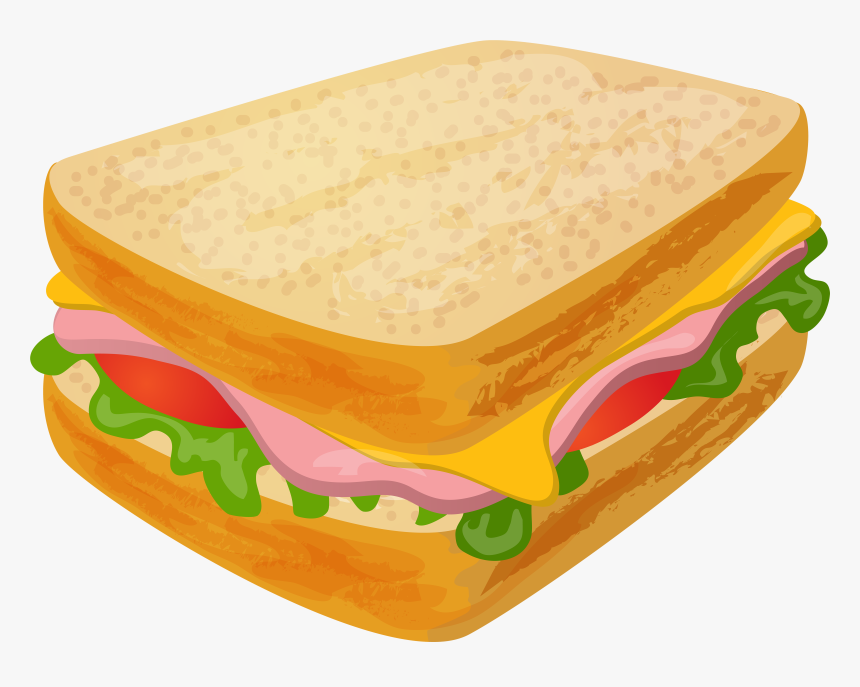 Ham And Cheese Sandwich Clipart , Transparent Cartoons ...