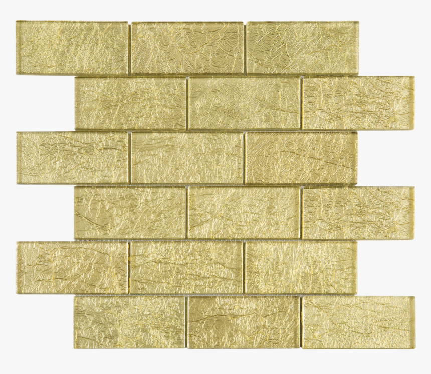 Brick Gold Glass Mosaic Tile - Wall, HD Png Download, Free Download
