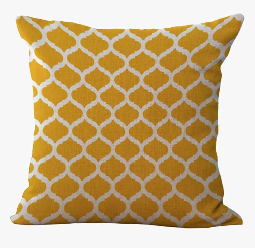 Cushion - Yellow Pillow Transparent, HD Png Download, Free Download