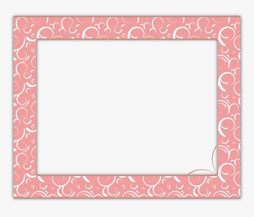 Transparent Swirl Frame Png - Pink Border High Resolution, Png Download, Free Download