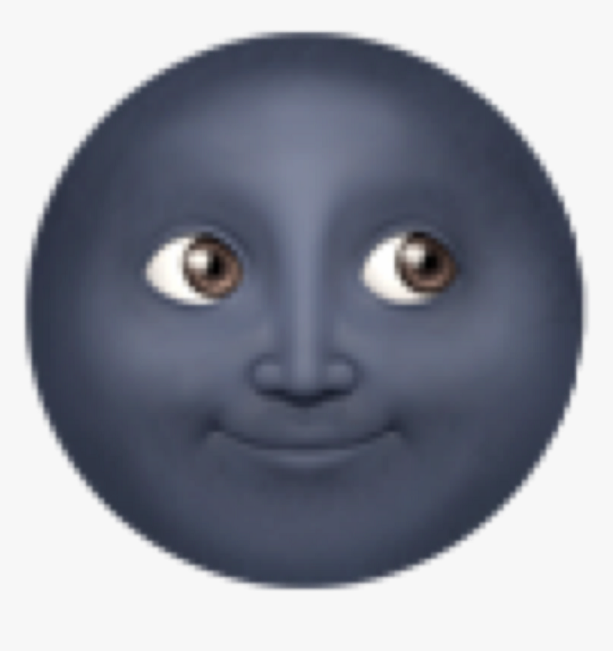 Clip Art Dark Moon Emoji - Black Moon Emoji, HD Png Download, Free Download