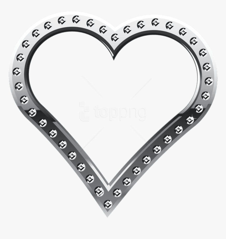 Free Png Download Heart Border Silver Clipart Png Photo - Heart Border Designs Transparent, Png Download, Free Download