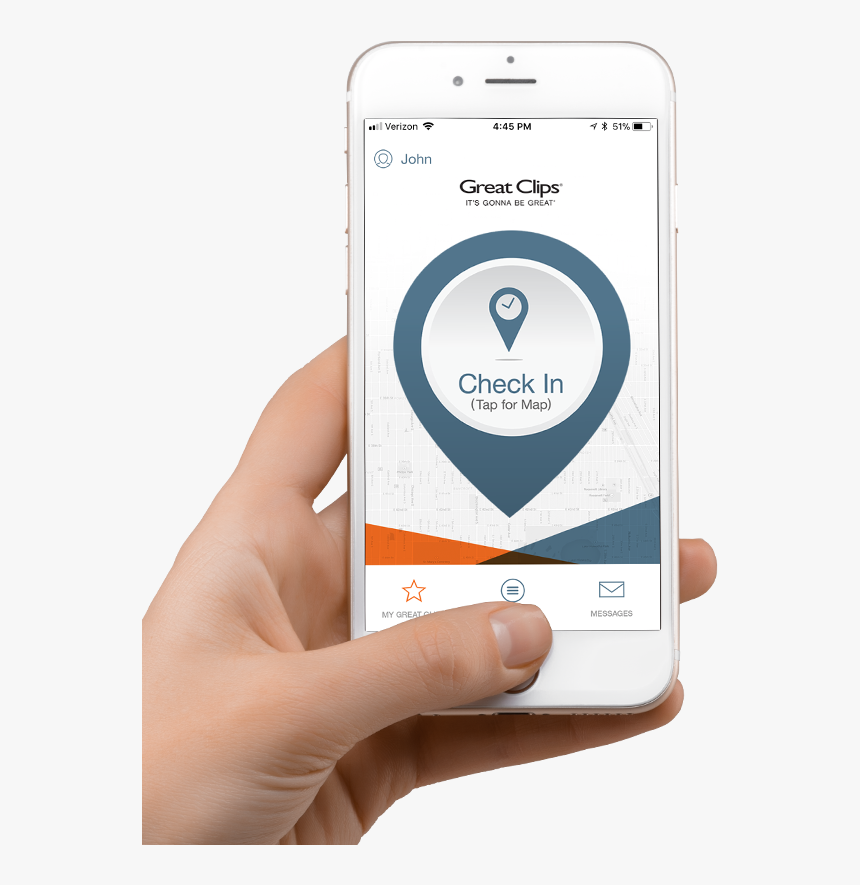 Great Clips App On An Iphone - Iphone, HD Png Download, Free Download