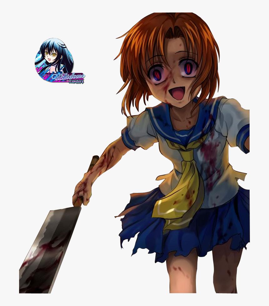 Anime Blood And Higurashi No Naku Koro Ni Image Higurashi No Naku Koro Ni Rena Psycho Hd Png Download Kindpng