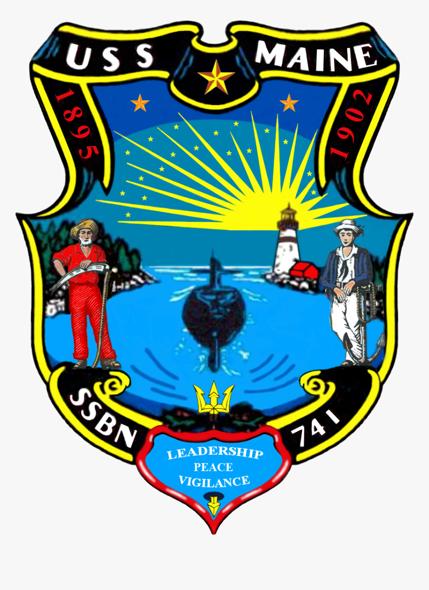 File - 741insig - Uss Maine Ssbn 741 Logo, HD Png Download, Free Download