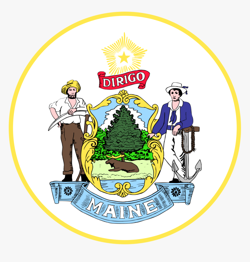 Maine State Seal, HD Png Download, Free Download