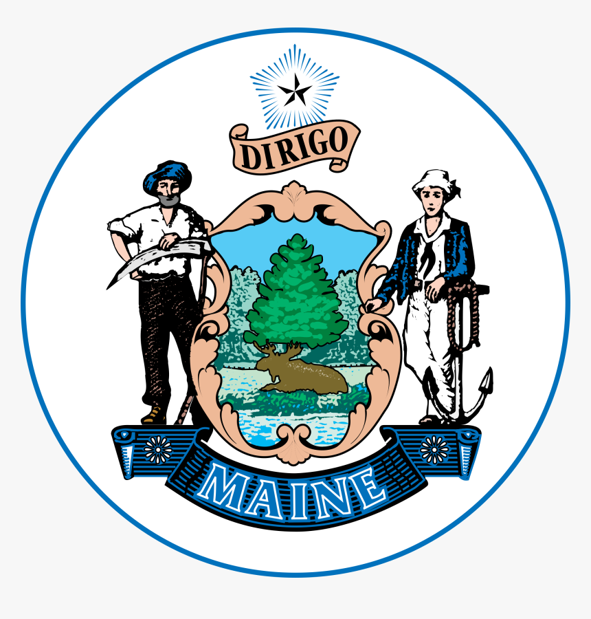 Clip Art Maine State Seal - Maine State Seal Png, Transparent Png, Free Download