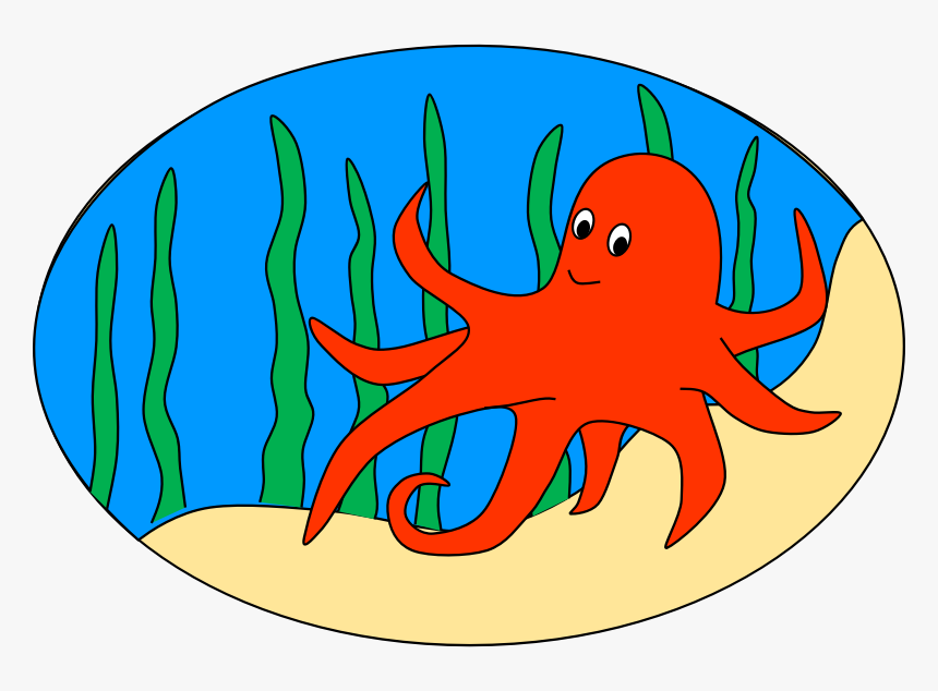 Octopus Clipart Free Images 4 - Octopus In The Sea Clipart, HD Png Download, Free Download
