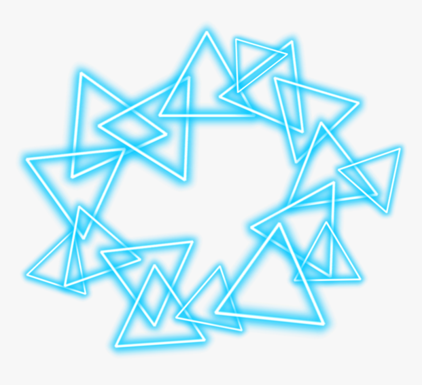 #crown #halo #neon #blue #circle #star #triangle #cool - Triangle, HD Png Download, Free Download