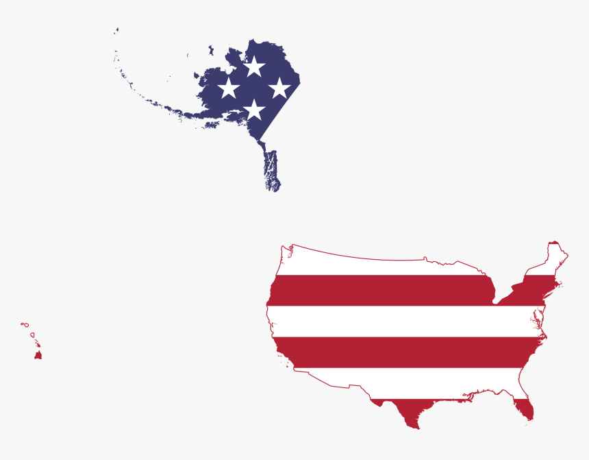 5o State Usa Flag Map , Png Download - 50 States Flag Map, Transparent Png, Free Download
