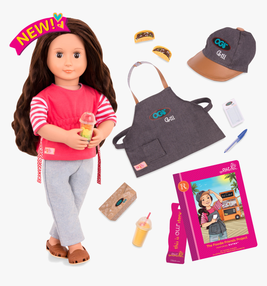 Transparent American Girl Doll Png - Our Generation Deluxe Food Truck Doll, Png Download, Free Download