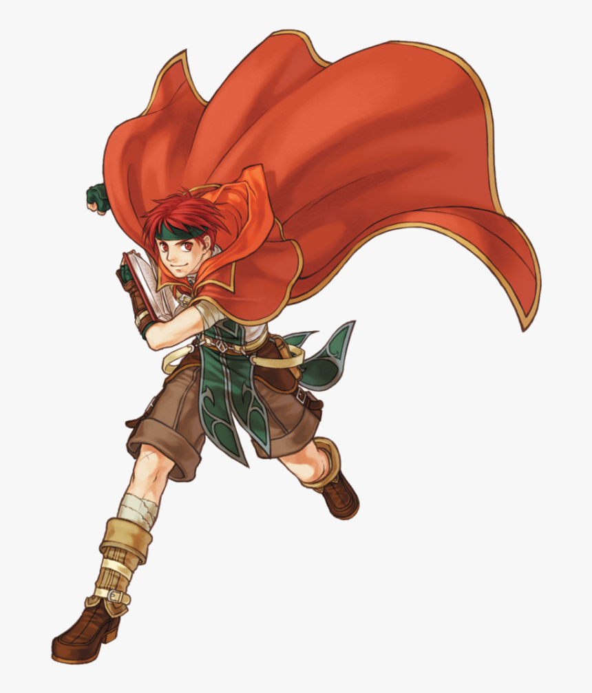 Red Mage Anime Red Hair Red Eyes Boy Guy - Anime Fire Mage Boy, HD Png Download, Free Download