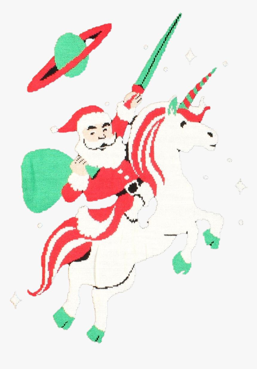 Santa On Unicorn Png Image - Illustration, Transparent Png, Free Download