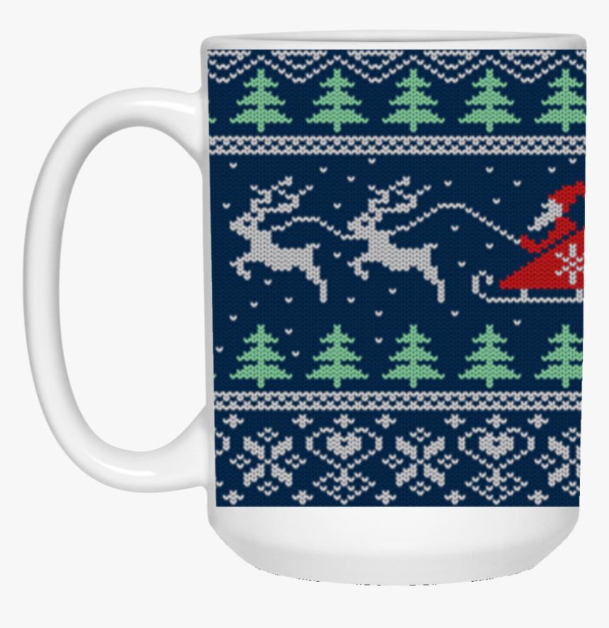 Transparent Santa And Reindeer Silhouette Png - Вязаные Фоны, Png Download, Free Download