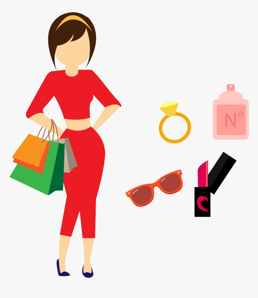 Icon For Women Transprent Png Free Download - Woman Shopping Icon Png, Transparent Png, Free Download