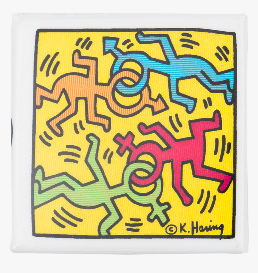 Keith Haring Dancing Figures Art Button Museum - Visual Arts, HD Png Download, Free Download